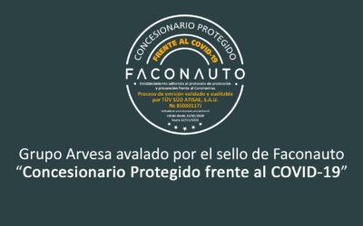 Grupo Arvesa – Concesionarios protegidos frente al COVID-19