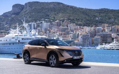 El Nissan Ariya debuta públicamente por las famosas calles del circuito urbano de Mónaco